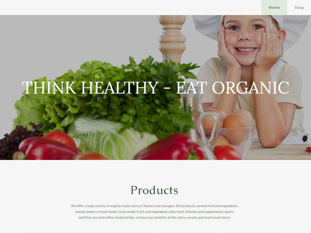 Сайт органической продукции